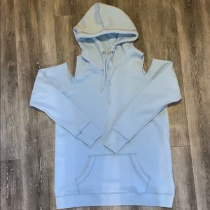 Hollister Blue Cold Shoulder Hoodie, XS, NWOT!